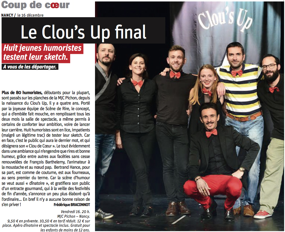 Clou's up décembre 2016 photo