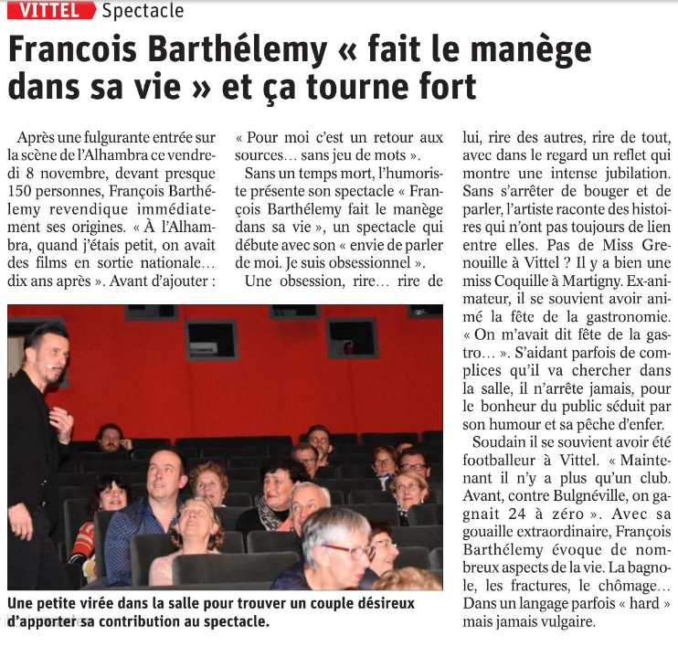 article presse one man vittel 081119